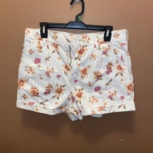 floral american eagle jean shorts